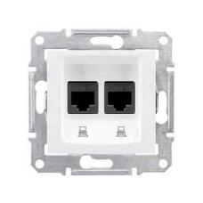 Информационная розетка Schneider Electric Sedna 8P8C (Интернет) двойная Белый