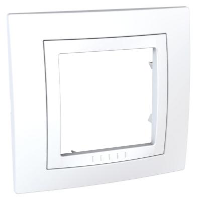 Рамка Schneider Electric Unica однопостовая Белый