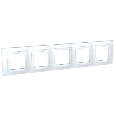 Рамка Schneider Electric Unica пятипостовая Белый