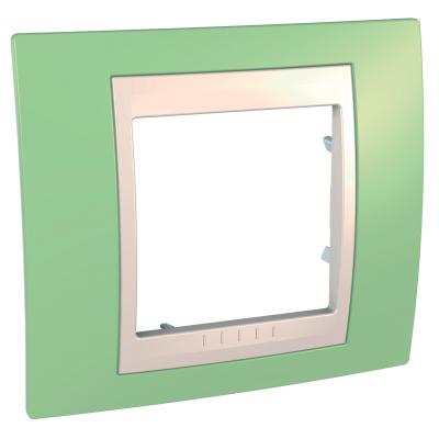 Рамка Schneider Electric Unica однопостовая Зеленое яблоко