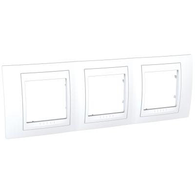 Рамка Schneider Electric Unica трехпостовая Белый
