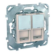 Информационная розетка Schneider Electric Unica 8P8C (Интернет) двойная Бежевый