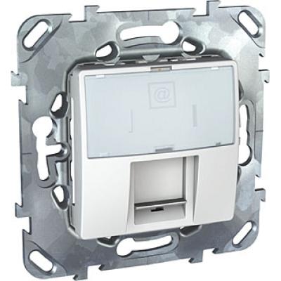 Информационная розетка Schneider Electric Unica 8P8C (Интернет) Белый