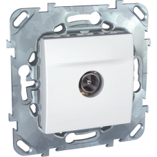 MGU5.463.18ZD TV розетка проходная белый Unica