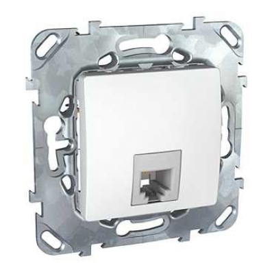 Информационная розетка Schneider Electric Unica 6P4C (Телефон) Белый