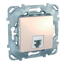 Информационная розетка Schneider Electric Unica 6P4C (Телефон) Бежевый