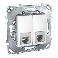 Информационная розетка Schneider Electric Unica 6P4C (Телефон) двойная Белый
