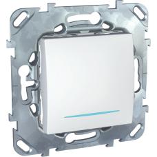 Перекрестный переключатель Schneider Electric Unica одноклавишный с подсветкой Белый