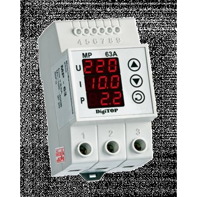 Реле напряжения многофункц. MP-63 63A (max70А) DigiTOP