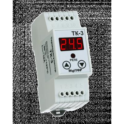 Регулятор температуры ТК-3 6A (-50..+125гр.) DigiTOP