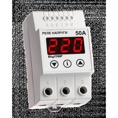 Реле напряжения Vp-50 50A (max 60А) DigiTOP
