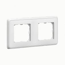 Рамка Legrand Cariva двухпостовая Белый