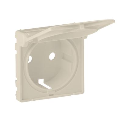 Лицевая панель розетки с крышкой Legrand Valena Life Бежевый
