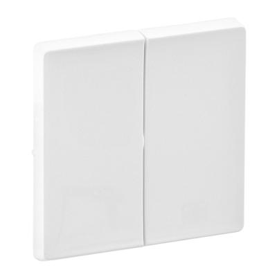 Лицевая панель выключателя Legrand Valena Life двухклавишная Белый