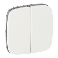 Лицевая панель выключателя Legrand Valena Allure двухклавишная Белый