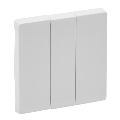 Лицевая панель выключателя Legrand Valena Life трехклавишная Белый