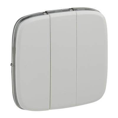 Лицевая панель выключателя Legrand Valena Allure трехклавишная Белый