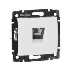 Информационная розетка Legrand Valena Classic 6P4C (Телефон) Белый