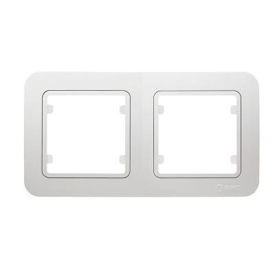 Рамка Makel Lillium двухпостовая Белый