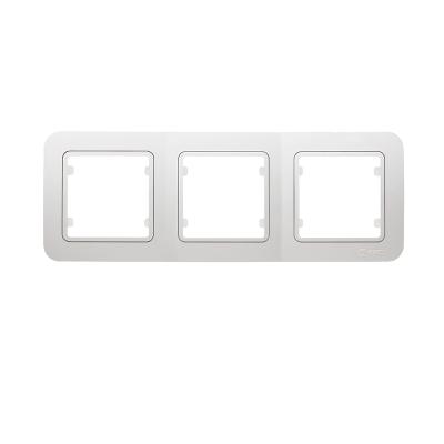 Рамка Makel Lillium трехпостовая Белый