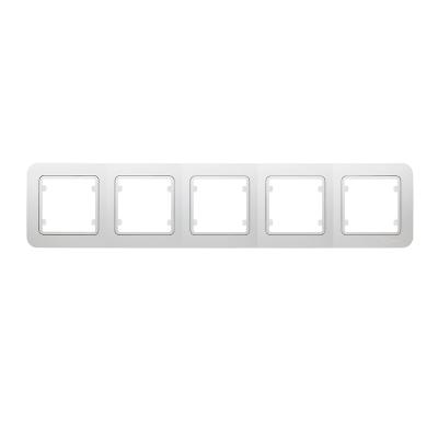 Рамка Makel Lillium пятипостовая Белый