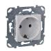 Розетка Schneider Electric Unica с заземляющим контактом Белый